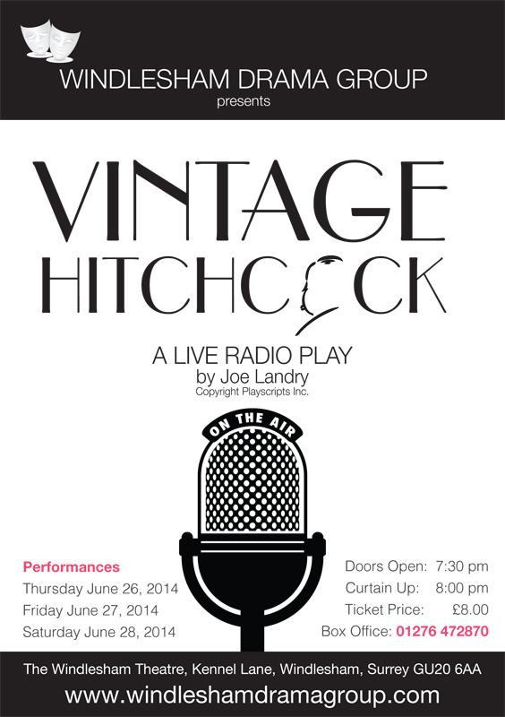 Vintage Hitchcock Poster